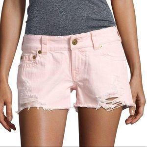 NWT True Religion Keira Pink Cut Off Ripped Shorts